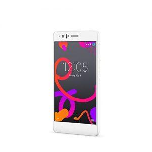 BQ Aquaris M5 - Smartphone de 5.0 pulgadas (4G, Wi-Fi, Bluetooth 4.0, Qualcomm Snapdragon 615 Octa Core A53 1,5 GHz, 16 GB de memoria interna, 3 GB de RAM, Android 5.0.2 Lollipop), color blanco