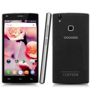 """Doogee X5 Max Pro - Smartphone móvil libre 4G (Android 6.0, Pantalla 5.0"""", Quad Core, 16GB ROM, 2GB RAM, Dual SIM, Sensor de huellas dactilares,E-Compass), Negro"""