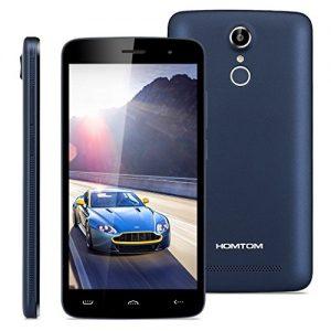 "HOMTOM HT17 Pro - 4G Smartphone Libre Multitáctil Android 6.0 (Pantalla IPS 5.5"", 1.3GHz MT6737 Quad Core, 2GB RAM 16GB ROM, 8.0MP Cámara, GPS, WIFI, OTG, Touch ID, Dual SIM) (Azul Oscuro)"