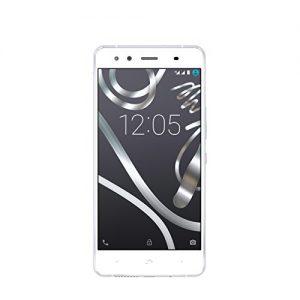 BQ Aquaris X5 - Smartphone de 5.0 pulgadas (WiFi, Bluetooth 4.0, GPS/Glonass, Qualcomm Snapdragon 412 Quad Core 1,4 GHz, 16 GB de memoria interna, 2 GB de RAM, Android 5.1 Lollipop), color blanco