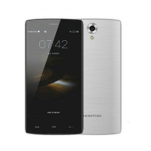 Homtom HT7 Pro 4G Lte - Smartphone Libre Android 5.1 (5.5'' HD, Dual Sim, Quad Core, 16Gb, 2Gb Ram, Hotknot Smart Wake Air Gestures, 8Mp), Plateado