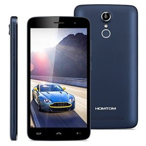 "HOMTOM HT17 Pro - 4G Smartphone Libre Multitáctil Android 6.0 (Pantalla IPS 5.5"", 1.3GHz MT6737 Quad Core, 2GB RAM 16GB ROM, 8.0MP Cámara, GPS, WIFI, OTG, Touch ID, Dual SIM) (Azul Oscuro)"